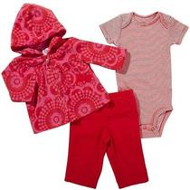Nwt Girls Carters Outfit  3pc  Fleece Set  New  Jacket 3m  28 Photo