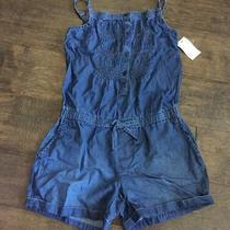 Nwt Girls Gap Chambray Denim Summer Romper Outfit Tank Shirt Shorts Small 6 7 Photo