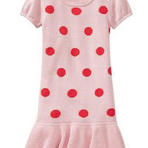 Nwt Girls Gap Pink Polka Dot Sweater Dress Size Xxl (14-16) Photo