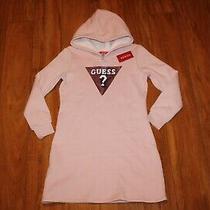 Nwt Girls Guess Sz 10 Sweater Fleece Hoodie Dress Bling Photo