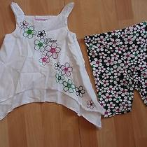 Nwt Girls Guess Sz 4 Shirt Bike Shorts Floral Photo