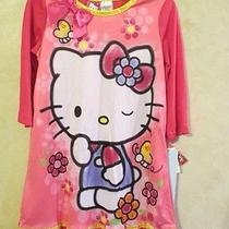 Nwt Girls Hello Kitty by Sanrio Pink Kitty Cat Nightgown Pajamas Size M  Photo
