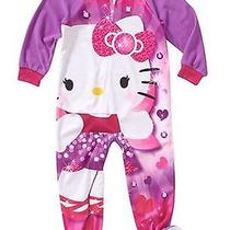 Nwt Girls Hello Kitty One Piece Footed Pajamas Size 3t  Photo