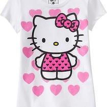Nwt Girls Hello Kitty Pink Hearts T-Shirt  Size Xxl 16  White Short Sleeve Top Photo