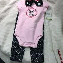 Nwt Girls Hudson Baby Three-Piece Set Hoodie Pants and Bodysuit 6 to 9 Months Photo