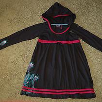 Nwt Girls Hurley Girls Black Long Sleeve Hooded Print Dress Large Nice Lqqk Fs Photo