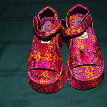 Nwt  Girls Josie & Pussycats Costume Disco 60's-70's Platform Shoes Size Medium Photo