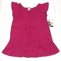 Nwt Girls Lg Roxy Cap Sleeve Pink Tunic Shirt Ruffle Photo