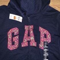 Nwt Girls Navy Gap Logo Full Zip Hoodie Pink Paisley Size Xxl Photo