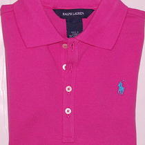 Nwt Girls Ralph Lauren Size 6 Short Sleeve Polo Shirt Various Colors & Styles Photo