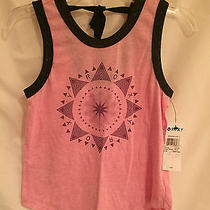 Nwt Girls Roxy Girl Tank Top Pink Awesome Sun Tie Back Medium M 10 F/s Photo