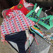 Nwt Girls Size Small (6-7) Old Navy & Gap Miscellaneous Swimsuit Pieces (Qty 5) Photo
