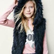 Nwt Girls Size Xl (12)   Gap Kids  Blue Faux Fur Hoodie Vest X-Large Jacket Photo