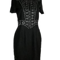 Nwt Givenchy Grommet Dress in Black Wow Sz 6 Made Italy Photo