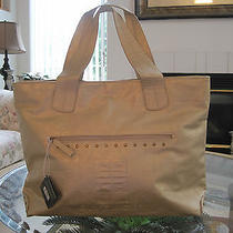 Nwt Givenchy Parfums Women Weekender Gold Travel Purse Bag Beach Tote Handbag  Photo