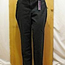 Nwt Gloria Vanderbilt Amanda Black Cotton Blend Short Capri Pants Plus Size 18w Photo