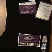 Nwt Gloria Vanderbilt Amanda Look Slimmer Jeans Size 8 Tapered Leg Black Photo