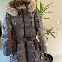 Nwt Goose Down Real Fur Parka Marc New York Andrew Marc Puff Coat Sz M Brown Photo