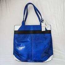Nwt Gorgeous Chic Botkier Ny Cruz Travel Tote Leather Bag Ultraviolet/white  Photo