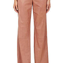 Nwt Gorgeous Helmut Lang Blush Leather Crop Wide Leg Trousers Pants S.10  1495 Photo