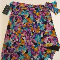 Nwt Gottex  Profile Colorful Pixel Swimsuit Coverup Tie Skirt Cover Up S/p 88 Photo