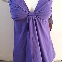 Nwt Gottex Swimsuit Purple Tankini Size 10 Photo