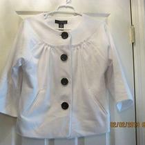 Nwt Grace Elements Black & White Stretch Knit Jacket Sz 10 Photo