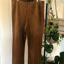 Nwt Grace Elements High Waisted Vegan Suede Luxury Pants Medium Photo