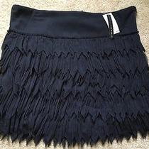 Nwt Grace Elements Size Large Black Fringe Mini Skirt Photo
