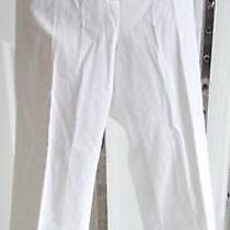 Nwt Grace Elements Stretch Cotton Solid White Cropped Capri Pants 23 Inseam 6 Photo