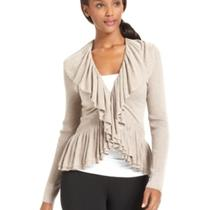 Nwt Grace Elements Sweater Cardigan Cream Medium Photo