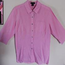 Nwt Grace Elements Wmn Spring Summer Carnation Bubblegum Pink Shirt Blouse 2x  Photo