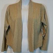 Nwt Grace Elements        Women's     Gold        Cardigan Sweater      Sz Large Photo