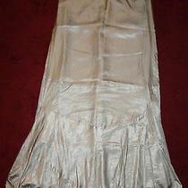 Nwt Graham & Spencer Womens Gray Fluted Ruffle Hem Silky Maxi Skirt L 399 New Photo