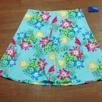 Nwt Green Dog Size 12 Multi Color Safari Print a Lined Spring Skirt Photo