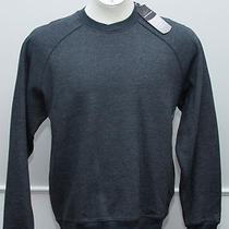 Nwt Greg Norman Notch Sweatshirt - Men's Medium - Golf/casual Heather Black 68 Photo