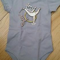 Nwt Gucci Baby Girl Gg Sport Print Gift Set 3pc Bodysuit Romper Top Blue 3/6 6/9 Photo