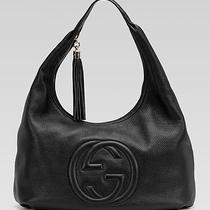 Nwt Gucci Soho Large Hobo Shoulder Handbag Black Leather Bag 1850 Photo