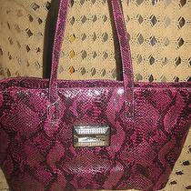 Nwt Guess Bag Handbag Wild Kingdom  Purple Berry Pursetoteshoppersatchel Photo