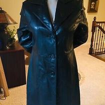 Nwt Guess Black 100% Soft Supple Leather Jacket Coat Size M Photo