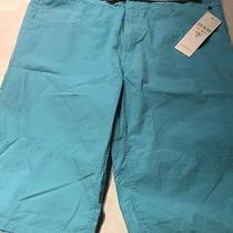 Nwt Guess Boys Sz 18 Shorts Light Blue With Belt Cotton Photo