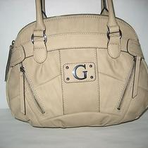 Nwt Guess by Marciano Medina Sand (Soft Tan)  Satchel Handbag 100% Authentic Photo