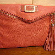 Nwt Guess Cisely Cherry Clutch W/ Tassel 100% Authentic Photo