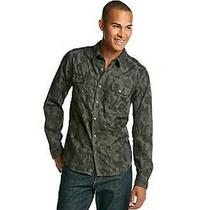 Nwt  Guess Dillon L/s Military Camo Shirt in Willow Green  Sz S Photo