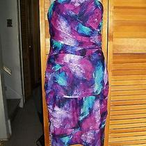 Nwt Guess Fab Purple Paint Splashed Strapless Dress 10 Photo