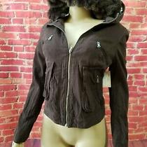 Nwt Guess Gabriella Brown Women's Fur Hooded Jacket Young Contemporary Size 24 Photo