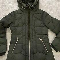 Nwt Guess Green Down Feather Filled Puffer Jacket Womens Size S Photo