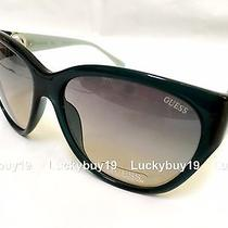 Nwt Guess Gu7348 Black Blue Authentic Sunglasses  Women Oversized  /652/ New  Photo