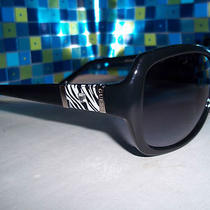Nwt  Guess Guf 211 Blk-35 -Women's Designer Black With Zebra Print Sunglasses  Photo