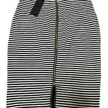 Nwt Guess High Waisted Striped Pencil Skirt Size M Photo